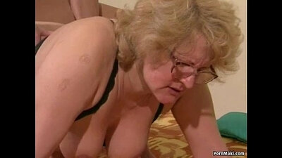 Beautiful big tit brownie granny with a hairy pussy loves missionary