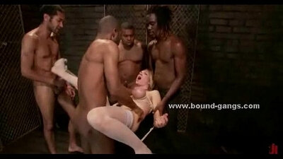 Best friends in brutal group fucking session