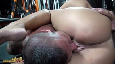 Rounded big tits and erotic lips used for strangleing and teasing slave