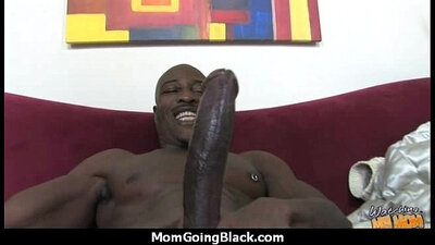 mature mom sucking a black cock