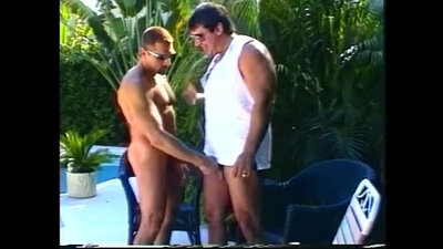 Dad Gets A Refreshing Cock Outdoors