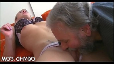 Young sweetie drilled by old paramour
