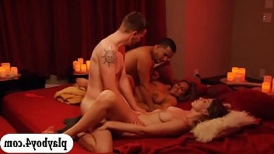 Married couples orgy in Playboy house and loved it