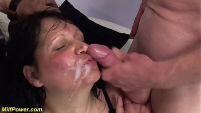 Chubby double fucked mature lady Car Valevans