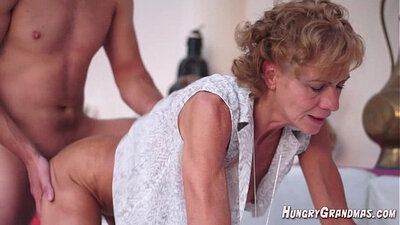 Fantasyafrica Hairy Granny Shaving Cock