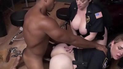 Femdom cops threeway fuck rapper