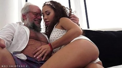 youthful latina on much older dick