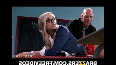 Kinky blonde schoolyoung femasculine is spanked and fucked by her prof