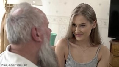 Teen beauty vs old grandpa Tifadmirery Tatum and Albert