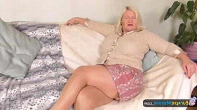 EuropeMature Busty granny Lacey has humid cunt