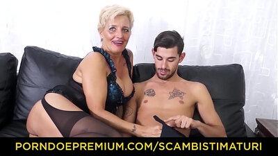Blonde plugs ass on Regan dancing real hardcore
