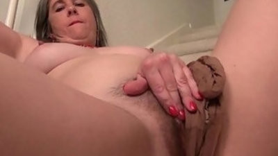 Naughty granny managery railr loves fingering her assfuckhole