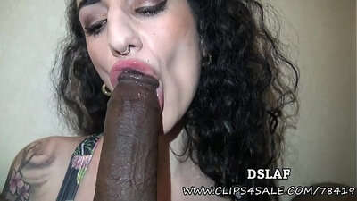 French Maid First Interracial Facial