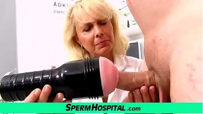 Blonde Nurse Goes ALL HER HANDJOB IN MMF