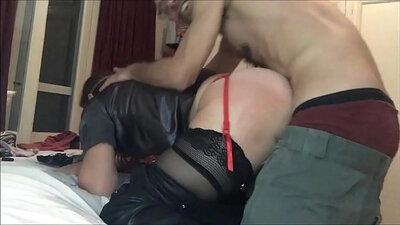 Betty in thigh high stockings and dark panties