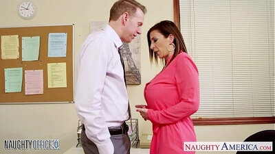 Brunette MILF Get Banged At Downtown Office
