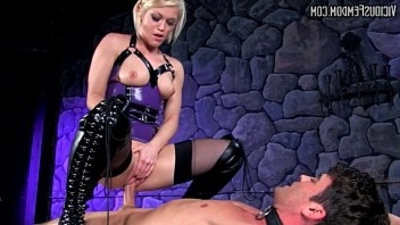 Ash Hollywood BALLBUSTING STRAPON CHASTITY Cock and Ball Torture FEMDOM