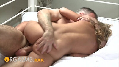 Chubby big tit temptress gives delicious orgasm to a huge stick