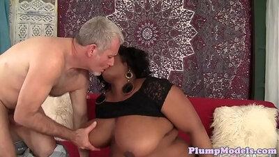 BBW fucks black cock