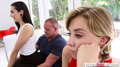 Hot Euro eurovids smother their step dads w