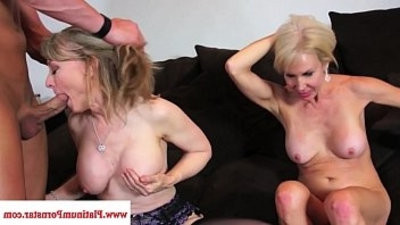 Erica Lauren and Nina Hartley share a big cock