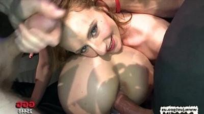 Two Dirty Slutranssexual lick each others pussies clean German Goo Girls