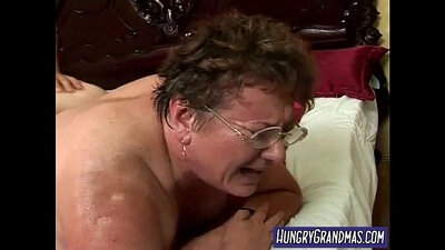 Chubby granny gets pussy fisted, fucked and creamed