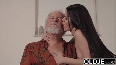 Teen gets grandpa cock