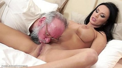 big titted Samantha Rebeka fucked by an old gentleman