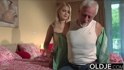 Teen Masterfucked POV Grandpa enters wet pussy