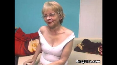 Grandma strips and then goes nut
