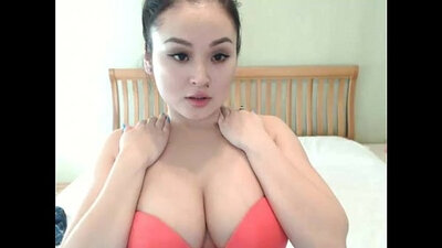 Curly Haired Asian Girl on cam