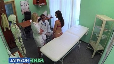 FakeHoslobberal Doctors cock and nurses tongue cure frustrated horny patientranssexual