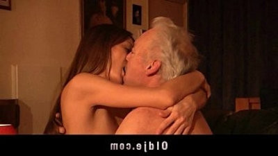 Gorgeous girl fuck and gulp old man jism