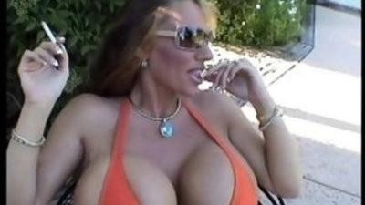Lisa Lipps orange bikini