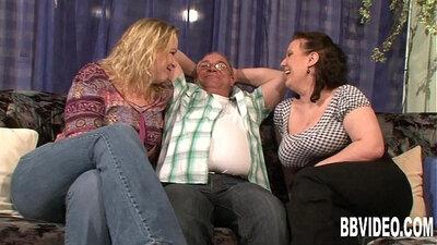 Cock ballsswearing busty girls shake and share pecker