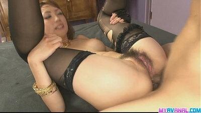 Fresh anal sex for sexy redhead Asian babe Saya Fujishiro