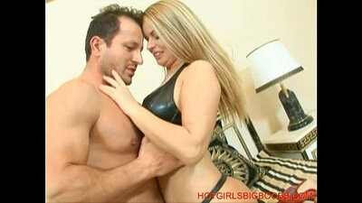 Black beauty with big tits riding hard cock and sucking
