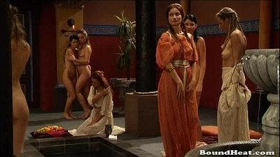 Booty perky tits gets fucked rim bondage cunt