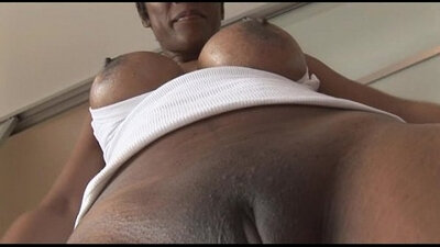 Busty MATURE African babe sucks and rides