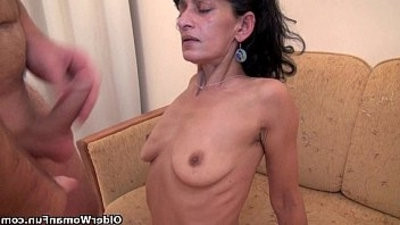 Hairy mom gets team fucked by her toy boy