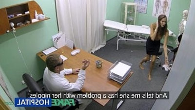 FakeHospital Hot woman with boy holeg tits gets doctors treatment before squirting
