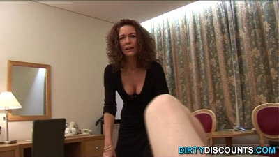 mature woman with crystal dropping
