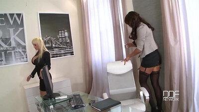 Busty Secretary Drills Her Bosses Cock