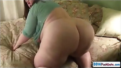 Sexy super BBW has a good time