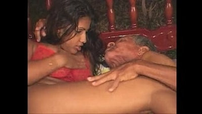 Brunette is getting his cock