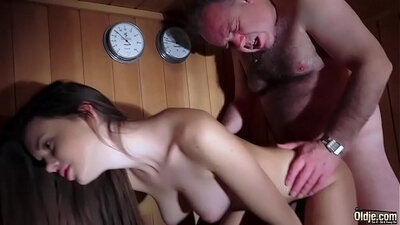 Masseuse swallows cum young pussy raunch