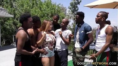 BBW Interracial Gangbang with Carboy
