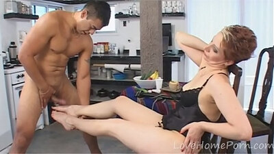 Slutty mature in hot sex action with her lucky stud