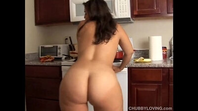 Busty Babe Deep Throats Fat Rod
